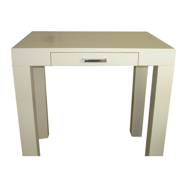 Off-White Pottery Barn Parson Desk - Image 1 of 4