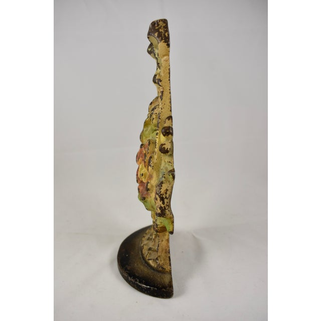 1930s Hubley Cast Iron Basket with Bow & Flowers Doorstop For Sale In Philadelphia - Image 6 of 9