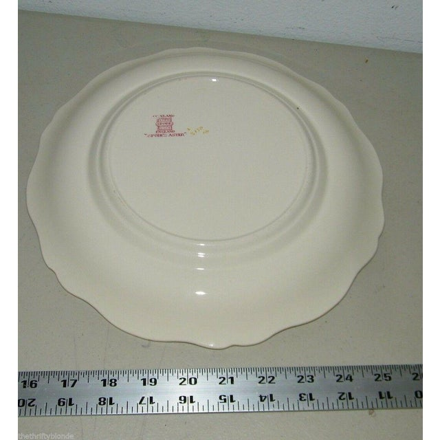 French Country Vintage Spode Aster Red Dinner Plate Copeland For Sale - Image 3 of 5