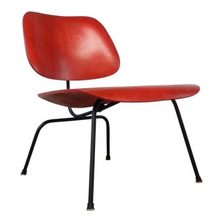 Fully Restored Early Red Aniline Dye Eames Lcm For Sale