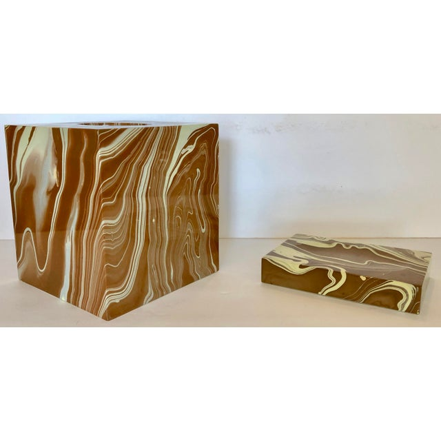 Oggetti Tissue Box and Soap Dish For Sale - Image 10 of 10