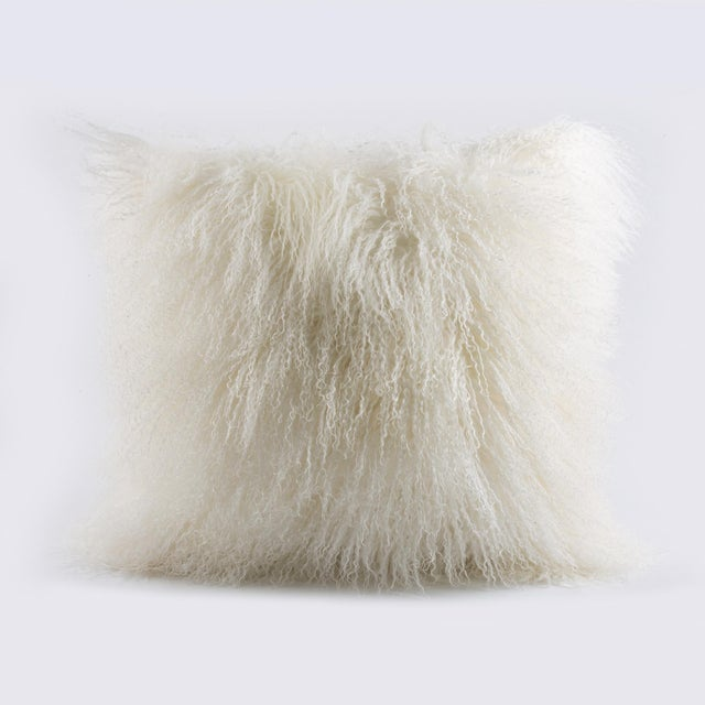 Mongolian Fur Pillow For Sale - Image 4 of 4