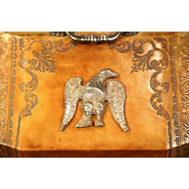 Mid-20th Century Italian Leather & Tooling Letter Holder For Sale In Dallas - Image 6 of 9