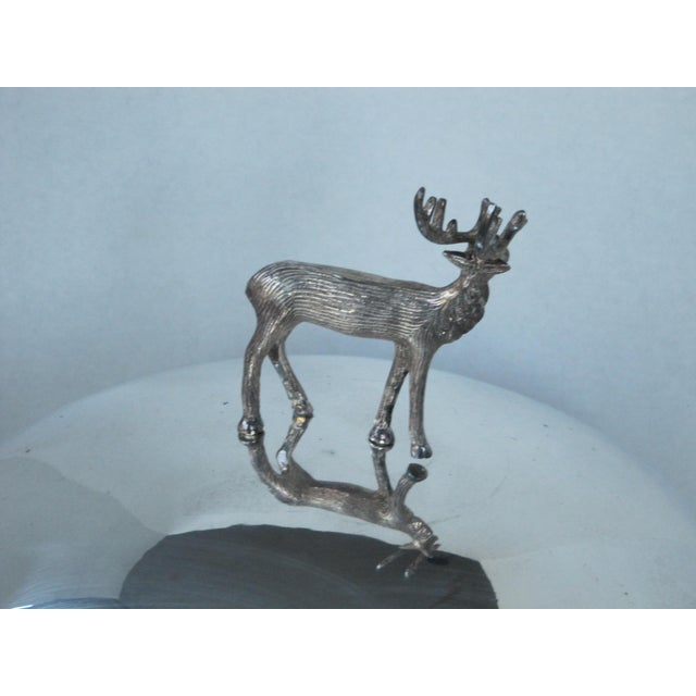 Silver-plate Meat Dome and Tray with Stag Handle For Sale - Image 10 of 10