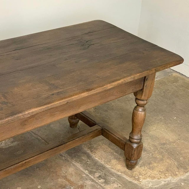 Wood Farm Table, 19th Century Country French Oak For Sale - Image 7 of 12