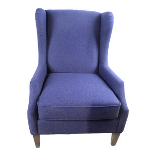 Modern Bassett 1190-02 Palmer Navy Blue Accent Chair For Sale
