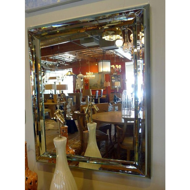 Large All-Glass Wall Mirror For Sale In Los Angeles - Image 6 of 7