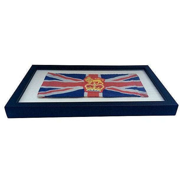 Framed King George Coronation Flag - Image 2 of 4