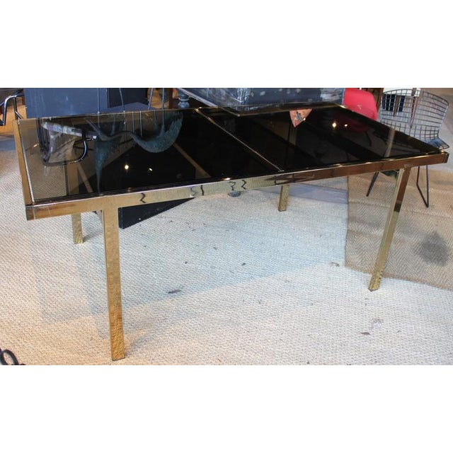 Mid Century Modern Milo Baughman Brass And Glass Dining Table Image 1 Of 6