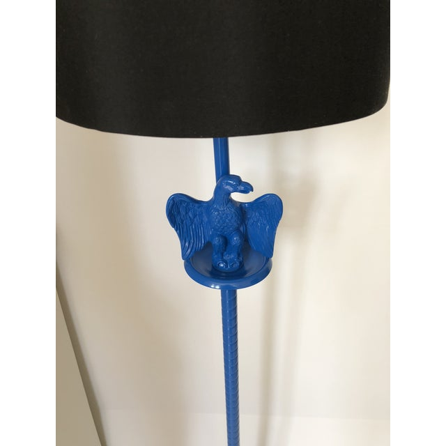Vintage Royal Blue Federal Style Eagle Floor Lamp For Sale - Image 4 of 13