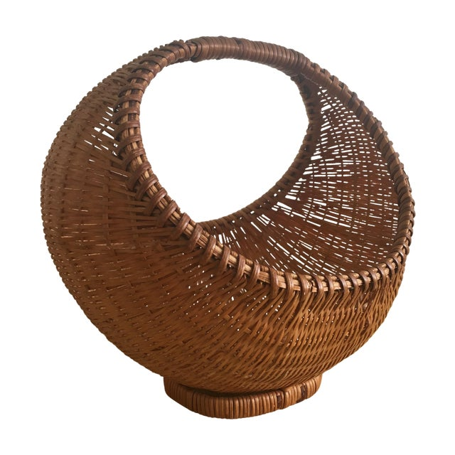 Fall Harvest Round Rattan Basket - Image 1 of 6