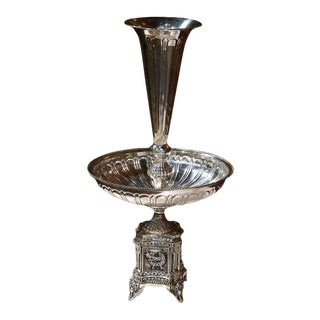 19th Century French Louis XV Silver Plated Epergne Centerpiece For Sale