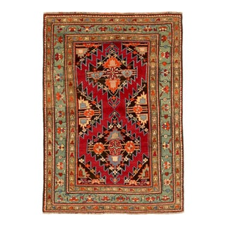 Late 19th Century Russian Area Rug Gharebagh Design For Sale