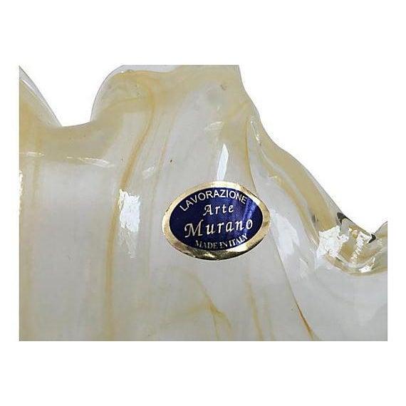 Murano Vintage Murano Handblown Translucent Centerpiece Bowl For Sale - Image 4 of 5