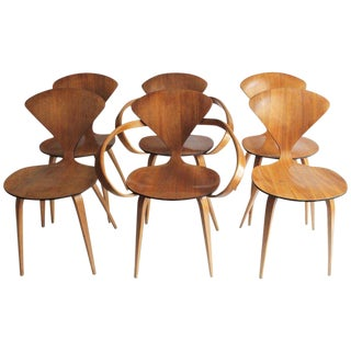 Set of Six Bentwood Chairs by Norman Cherner for Plycraft For Sale