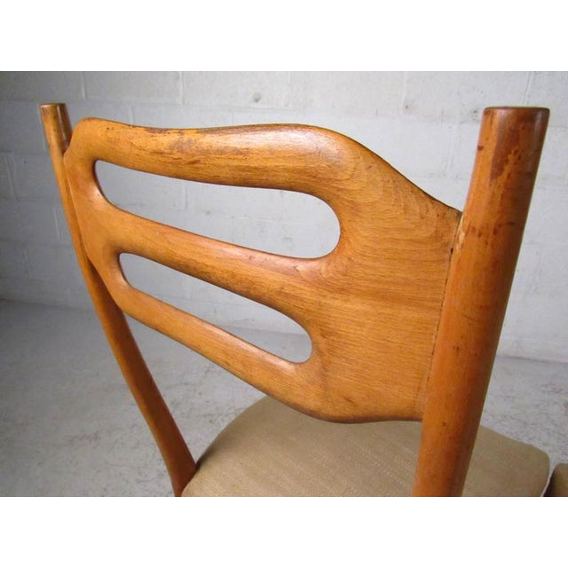 Sculptural Italian Modern Dining Chairs - Set of 6 - Image 7 of 10