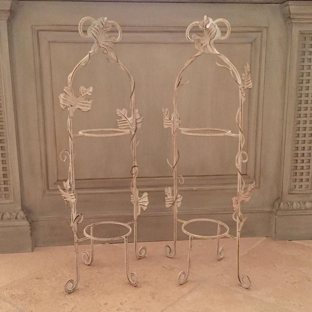 White Two-Tier Pastry Display Racks - A Pair - Image 2 of 7