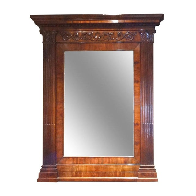 Neoclassical Overmantle Mirror For Sale - Image 4 of 4