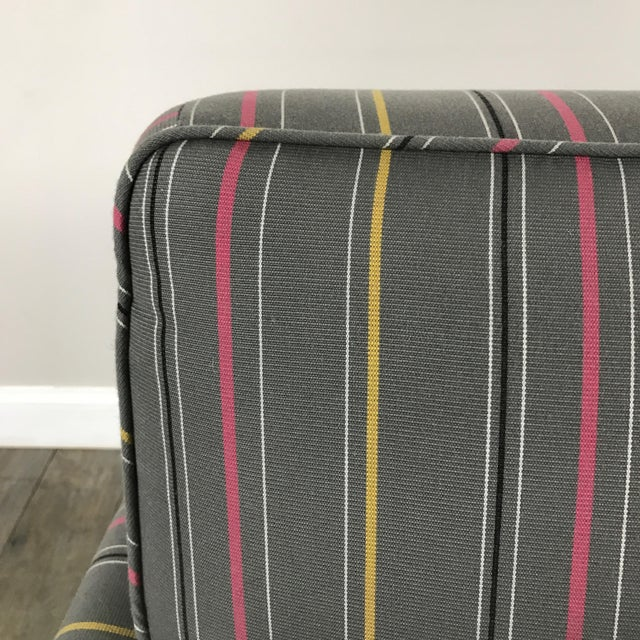 Colorful Striped Club Chair - Image 6 of 11