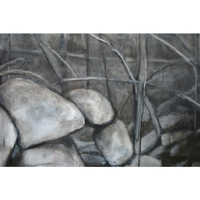 Large Painting of a Stone Wall For Sale In Providence - Image 6 of 11