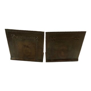 1910s Roycroft Arts & Crafts Hammered Copper Bookends - a Pair For Sale