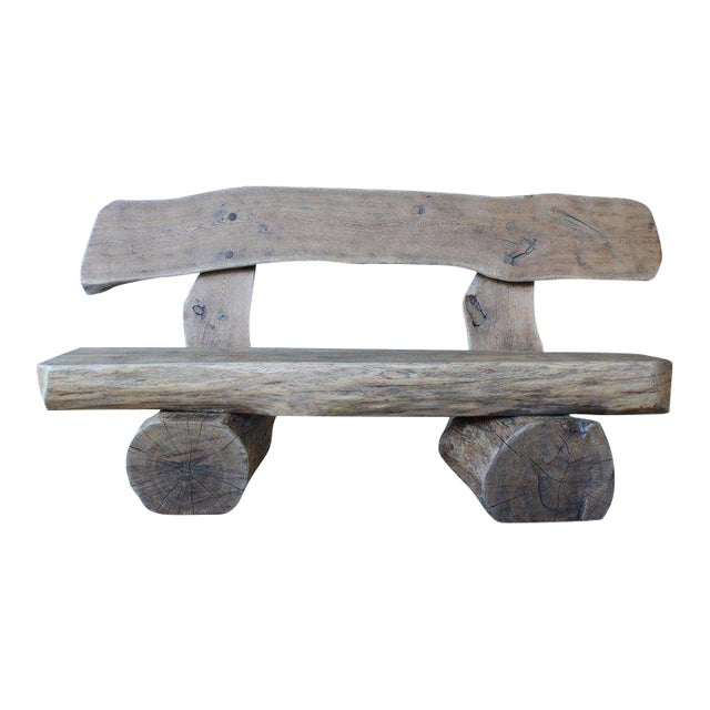 Pair of Oak Benches, France, 1960s. Sold Individually. For Sale