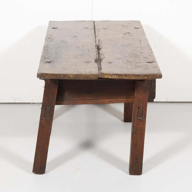 18th Century Solid Walnut Spanish Side Table For Sale - Image 10 of 13