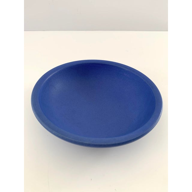 Bright Blue Ceramic Bowl For Sale In San Francisco - Image 6 of 11