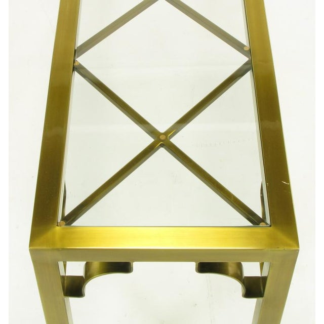 Mastercraft Brass Chinese Chippendale Console Table - Image 7 of 8
