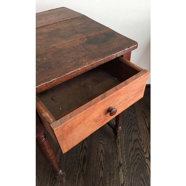 Early 20th Century 20th Century Rustic Drop Leaf Work Table For Sale - Image 5 of 10