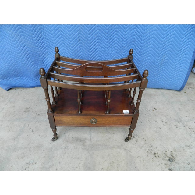 Antique Mahogany Canterbury Rack For Sale - Image 6 of 7