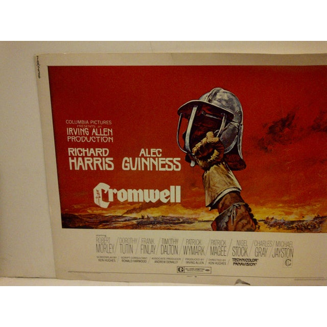 "Mid-Century Modern ""Cromwell"" Vintage Movie Poster 1970 For Sale - Image 3 of 6"