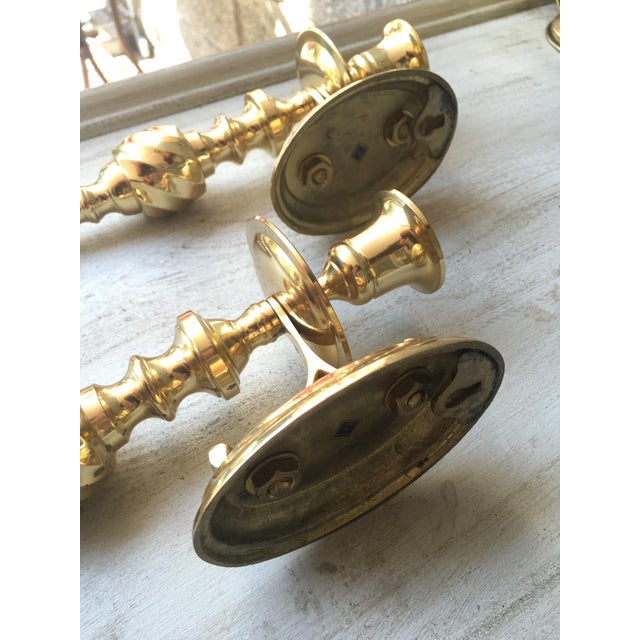 Scrolled Brass Candle Sconces - A Pair - Image 4 of 5