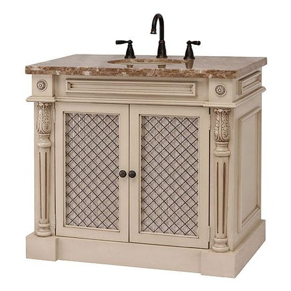 Classico Beige Bath Vanity with Cabinet - Image 3 of 6