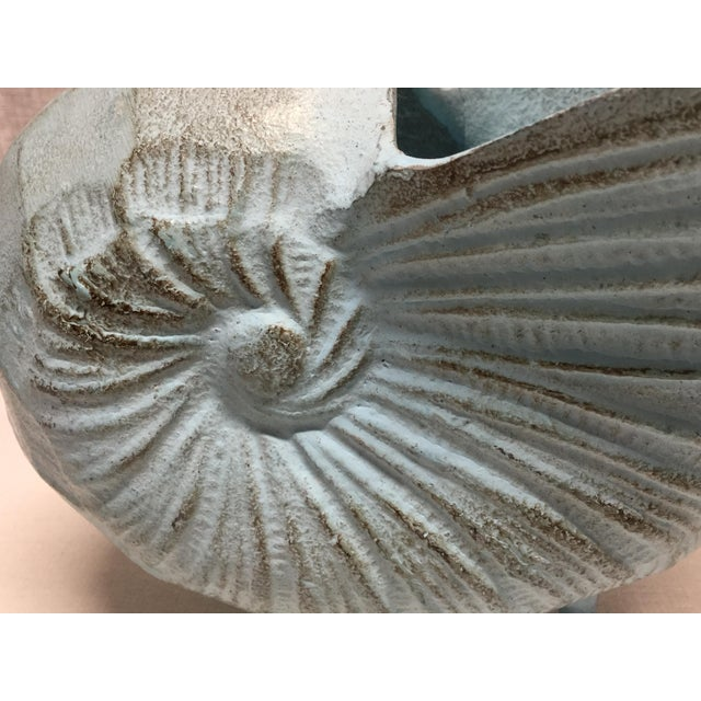 Mid 20th Century Mid 20th Century Cast Iron Nautilus Shell Vase/Planter For Sale - Image 5 of 7