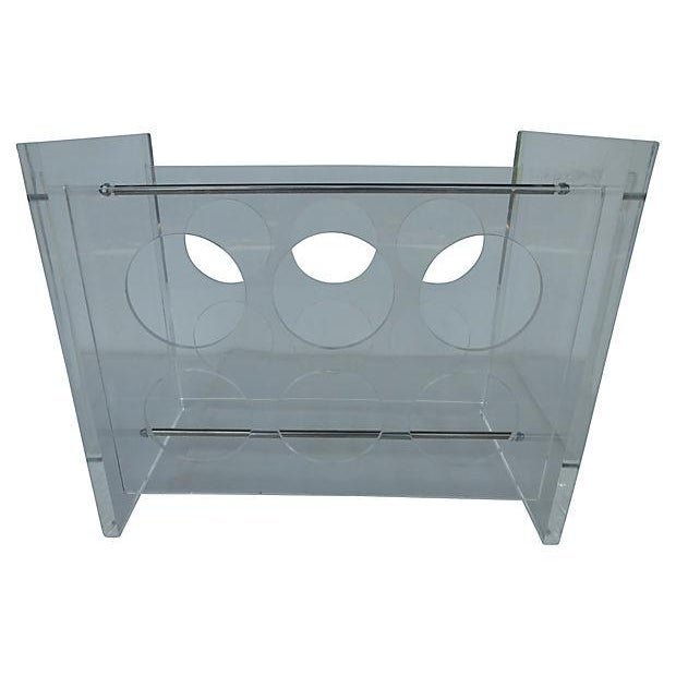 Lucite Wine Rack with Metal Crossbars - Image 1 of 5