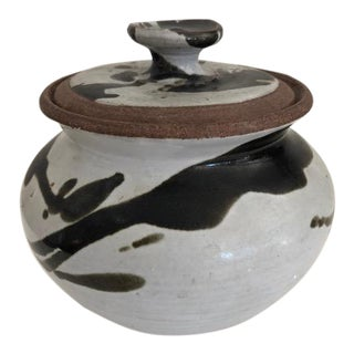 Vintage Stoneware Pot With Lid