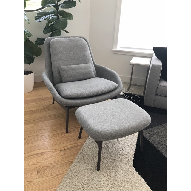 Blu Dot Charcoal Wool Field Lounge Chair & Ottoman For Sale - Image 11 of 11