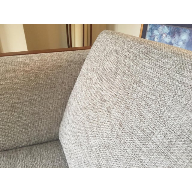 White Mid-Century Modern Four Seat Long Sofa by Dux For Sale - Image 8 of 13