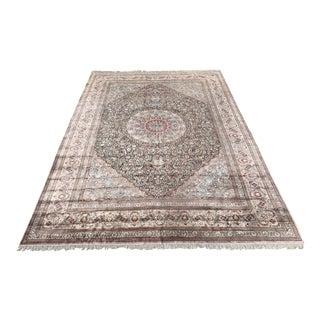 14.5 X22' Vintage Silk Mahi Tabriz Persian Rug For Sale