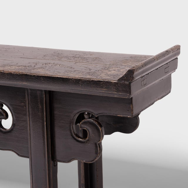 19th Century Chinese Altar Table With Cloud Spandrels For Sale In Chicago - Image 6 of 7