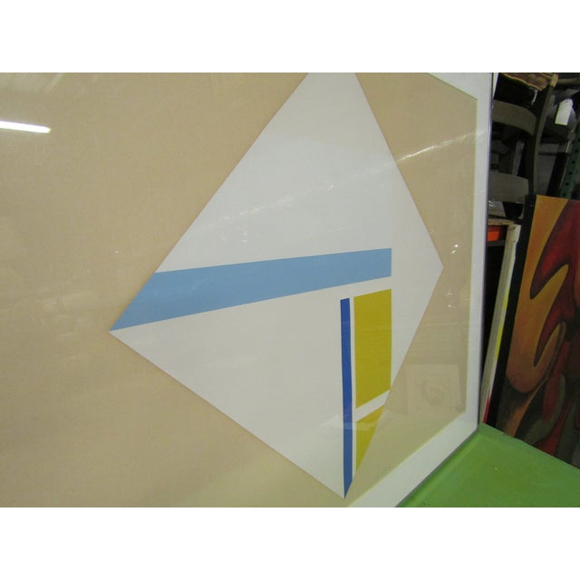1960s 1960s Vintage Original Abstract Signed Serigraph Print For Sale - Image 5 of 7