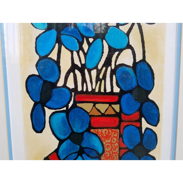 """Blue Flowers"" Serigraph by Avi Ben Simhon For Sale - Image 4 of 13"