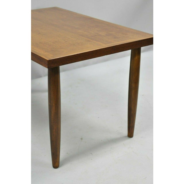 Brown Mid Century Modern Walnut Rectangular Side Table For Sale - Image 8 of 11
