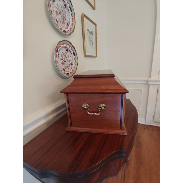 Wiltshire of Winchester Mahogany Liquor Chest With Cut Glassware - 12 Piece Set For Sale In Pittsburgh - Image 6 of 7