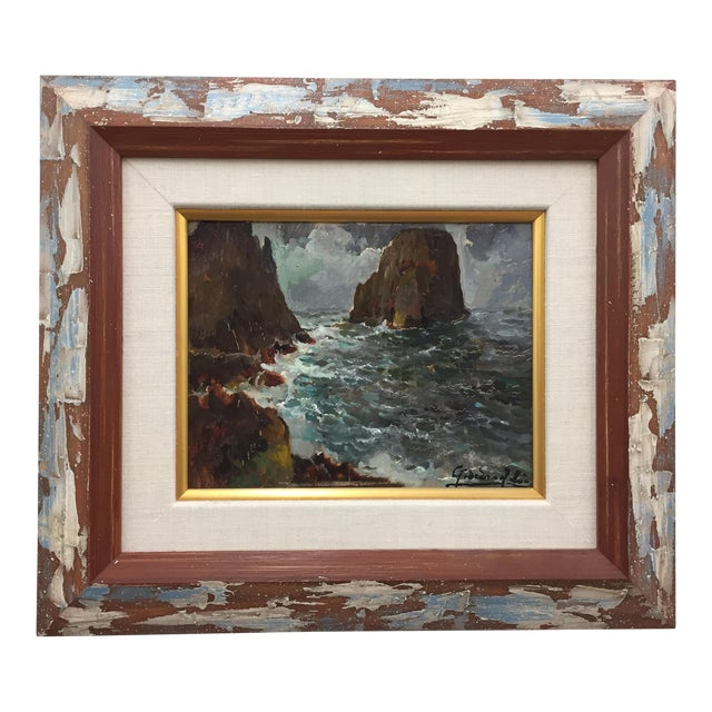 Framed & Signed Seascape Oil Painting - Image 1 of 10