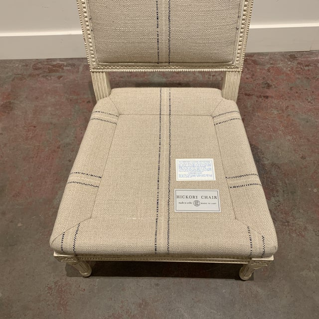 Textile Linen Slipper Chair by Hickory Chair For Sale - Image 7 of 8
