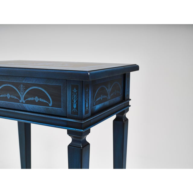 Italian Marquetry Accent Table For Sale In Greensboro - Image 6 of 8