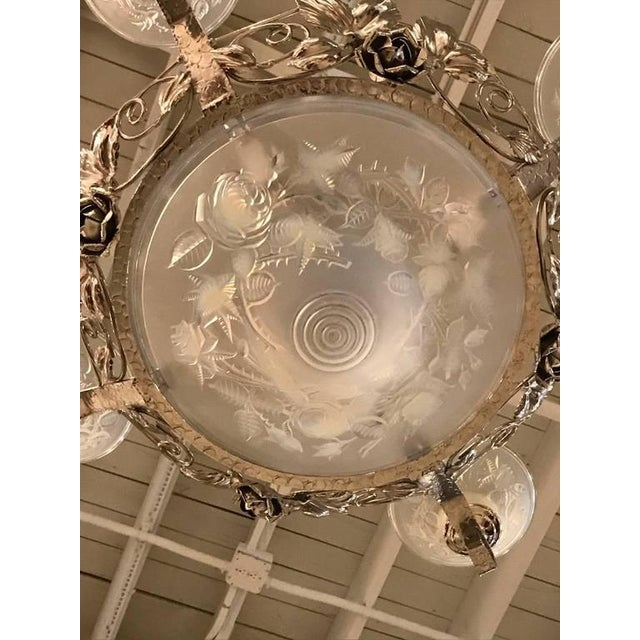 P. Maynadier Signed French Art Deco Chandelier For Sale In New York - Image 6 of 10