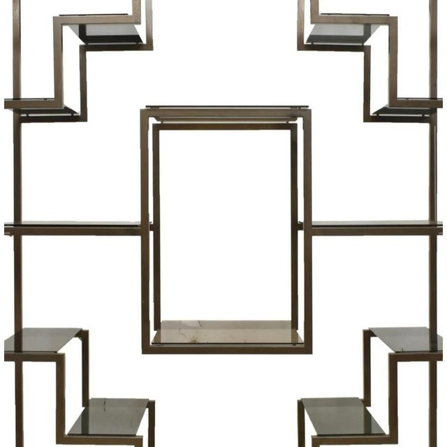 A spectacular Italian modernist etagere, circa 1970s, attributed to the highly sought after and renowned designer Romeo...